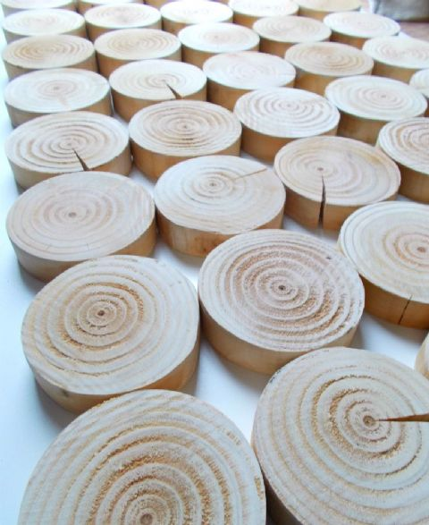 Log Wall Tiles - CIRCULAR STYLE
